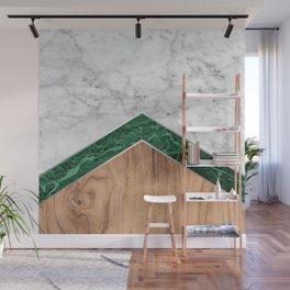 Arrows - White Marble, Green Granite & Wood #941 Wall Mural
