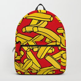 French Fries on Red Backpack