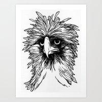 hawk Art Prints featuring Hawk  by Art is Vast