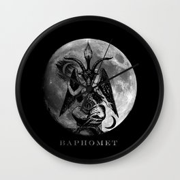 Baphomet Moon Wall Clock