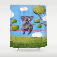 koala Shower Curtains featuring Koala by FleurClaireux