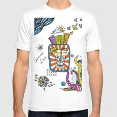 Summer Doodle Mens Fitted Tee White MEDIUM