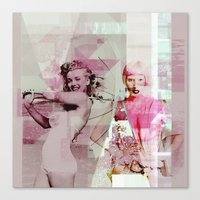 vogue Canvas Prints featuring |VOGUE| by lifeinaquietplace