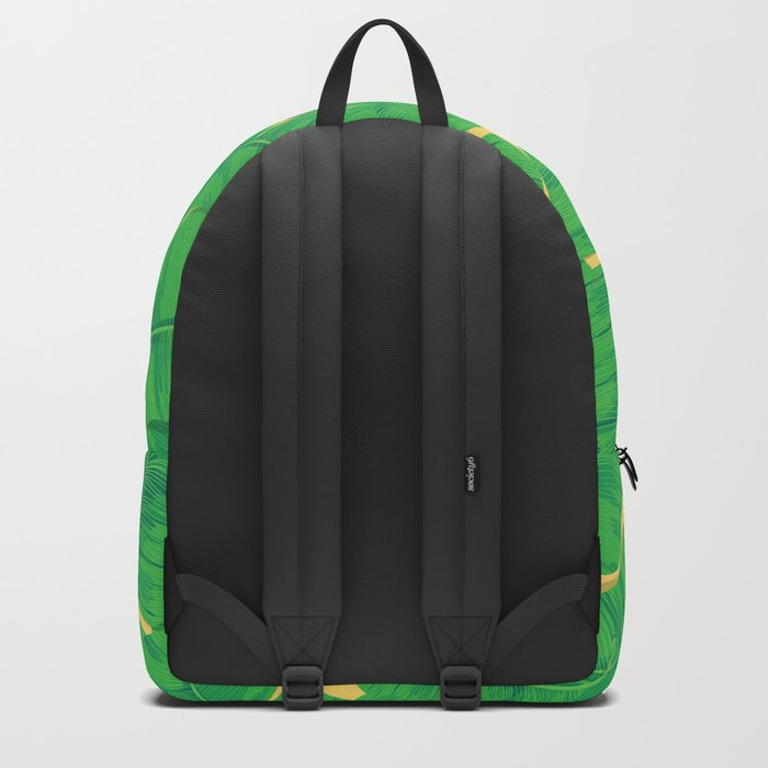 Toucan and banana leaves Backpack