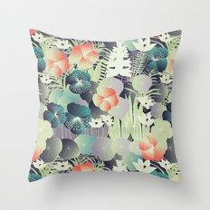 tropical mix Throw Pillow