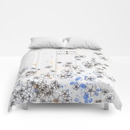 "NYC Wildflower show series - ""curiouser and curiouser"" Comforters"
