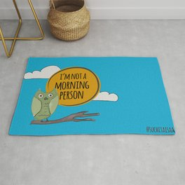 Not a Morning Person Rug