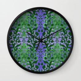 Watercolor Damask Wall Clock