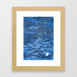Man & Nature - The Dangerous Sea Framed Art Print