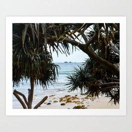 Tropical beach Art Print