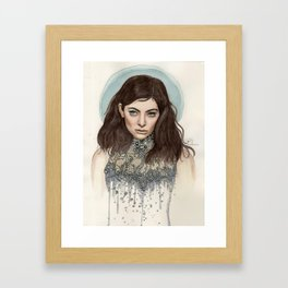 Lorde @ the Oscars Framed Art Print