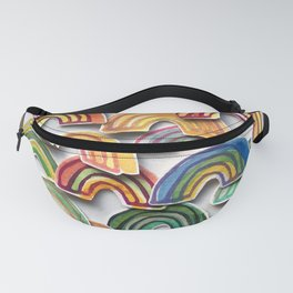 Watercolor Rainbow Stickers Fanny Pack