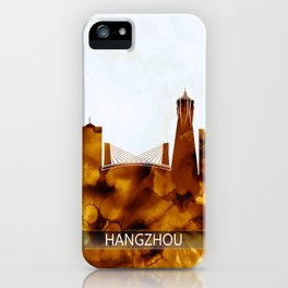 Hangzhou China Skyline iPhone Case