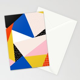 80s Retro Geometric Pattern 3 Stationery Cards