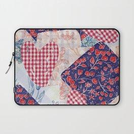 Autumn Floral Plaid  Laptop Sleeve