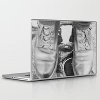 leather Laptop & iPad Skins featuring Leather Boots by Hall's Emporium