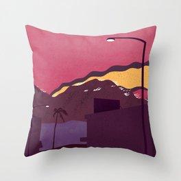 LA Wildfires Throw Pillow