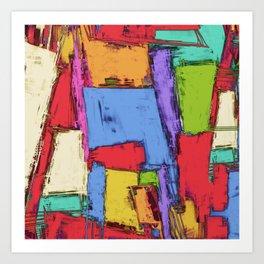 Broken fields Art Print