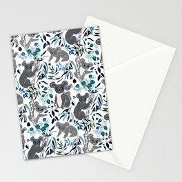 Blue Cute Cuddly Koalas Stationery Cards