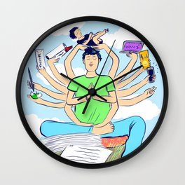 Zen parenting Wall Clock