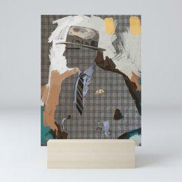 On The Brink of the Upper Falls Mini Art Print