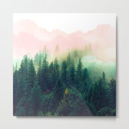 Watercolor mountain landscape Metal Print