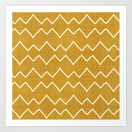 Urbana in Gold Art Print