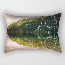 Mountain lake sunset Morskie Oko at Tatra mountains print Rectangular Pillow