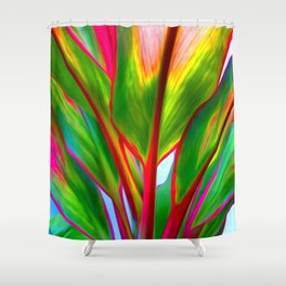 Ti Leaf Series #4 Shower Curtain