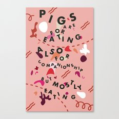 Pig Ate My Pizza Canvas Print