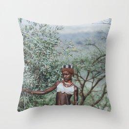 Hamar Tribeswoman II Throw Pillow