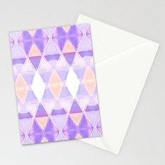 Art Deco Triangles Light Purple Stationery Cards