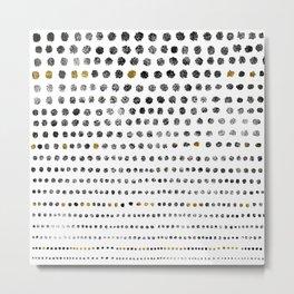 Black Dots II Metal Print