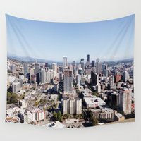 seattle Wall Tapestries featuring Seattle by Ella Ares
