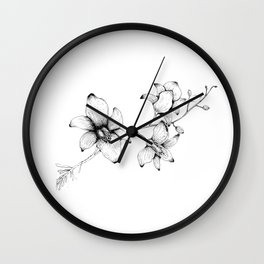 Orchidaceae Wall Clock