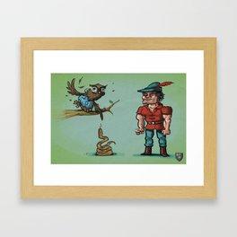 King Graham, Cedric the Owl and a Poisonous Snake Framed Art Print