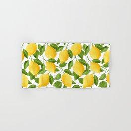 Yellow Lemon Watercolor Fruit Hand & Bath Towel