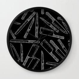 Kitchen Knives Wall Clock