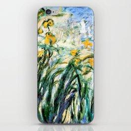 Claude Monet Yellow Irises and Malva iPhone Skin