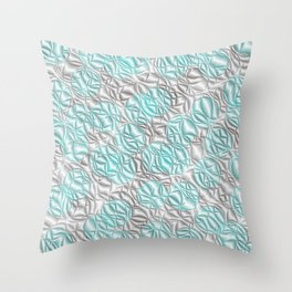 blue,pattern from many circles shiny with metallic effect Throw Pillow