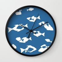 finding nemo Wall Clocks featuring Finding Nemo by Citron Vert