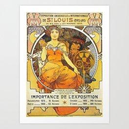 Alphonse Mucha World's Fair St Louis Missouri 1904 Art Print