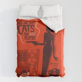 Cat Movie - orange Duvet Cover