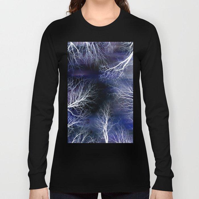 Abstract Midnight Trees Long Sleeve T-shirt
