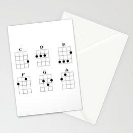 Ukulele chord 6 Stationery Cards