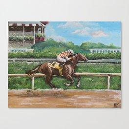 Saratoga Race Horse Canvas Print