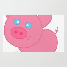 Cute pig insults you Rug