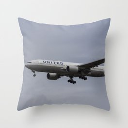 United airlines Boeing 777 Throw Pillow