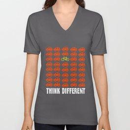 Think Different - Vintage Retro Biking T-Shirt Unisex V-Neck