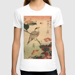 Hokusai,Hawfinch and mirabilis - manga, japan,hokusai,japanese,北斎,ミュージシャン T-shirt